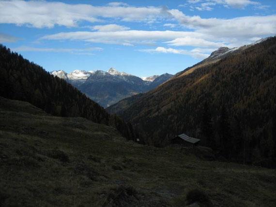 Blick von den Oberen Gößnitzer Hütten nach Norden