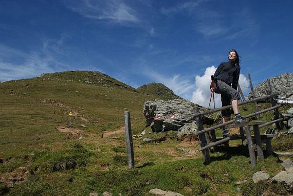 Zaunüberstieg beim Rückweg ins Tal