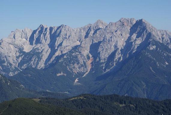 Im Südosten präsentieren sich die Steiner Alpen
