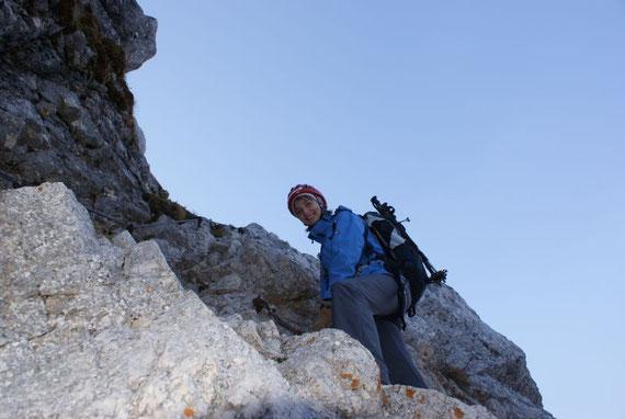 Am slow. Klettersteig kurz nach dem Einstieg