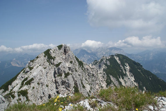 Auf der Kote 1896m mit Blick zum Gipfel