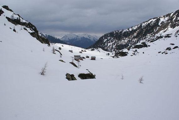 Staller Wölla, 2009 liegt hier Anfang Mai noch viel Schnee