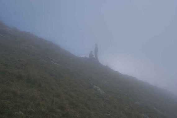 Der Nebel holt uns auf der Gurglitzen wieder ein
