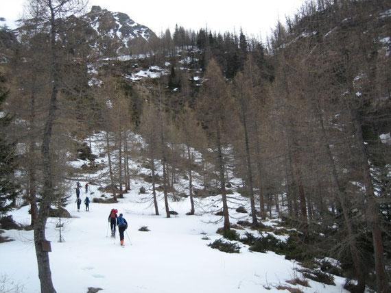 1. Steilstufe hinauf zur Dösenerhütte