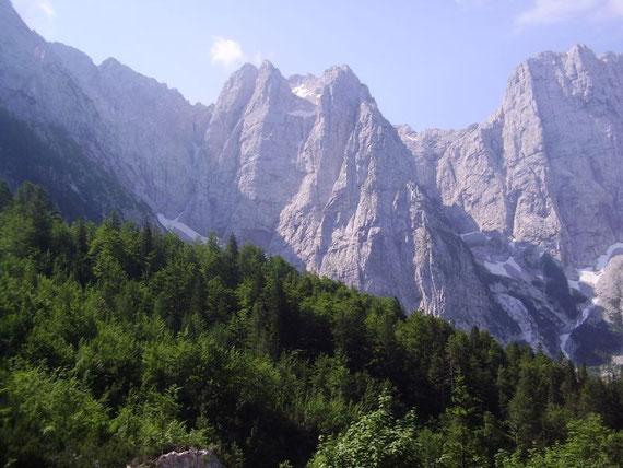 Die Veunza, zwischen Mangart und Ponza gelegen