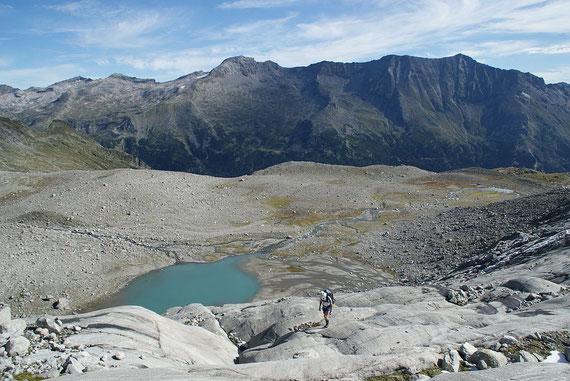 Am Gletscherschliff geht's höher