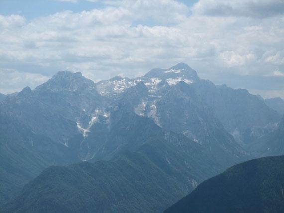 Der Blick nach Süden auf den Triglav (2864m)