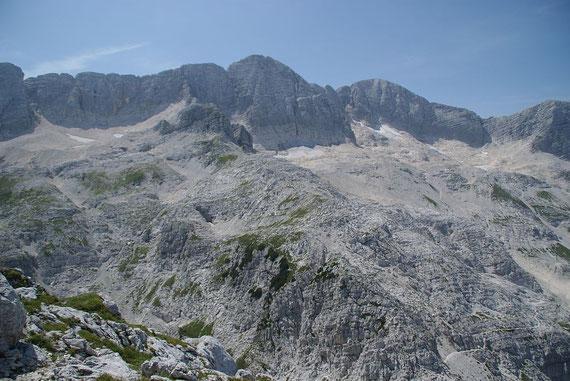 Der herrliche Kaninzug mit den spärlichen Resten eines einst mächtigen Gletschers