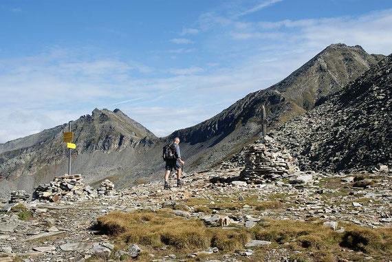 Blick vom Riekentörl zum Reißeck (rechts); links im Bild der Zaubernock