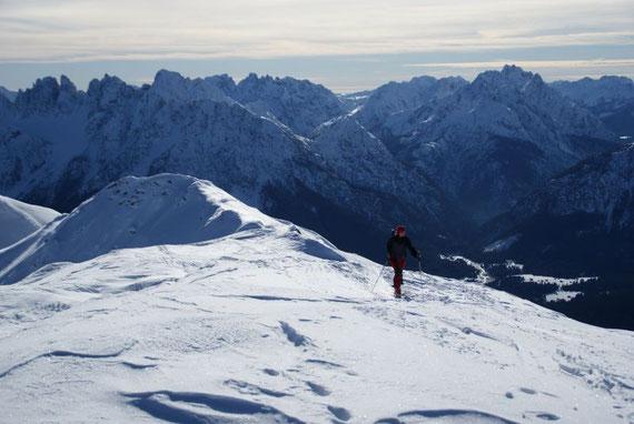 Am Kamm die letzten Meter zum Gipfel