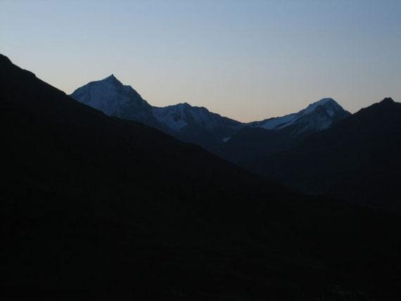 Blick von der Hütte nach Osten