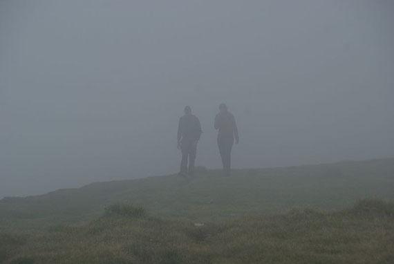 Am Weg zur Gruft holt uns leider endgültig der Nebel ein