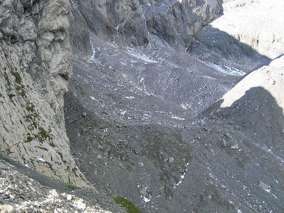 Der Blick ins Eiskar am 7.September 2007