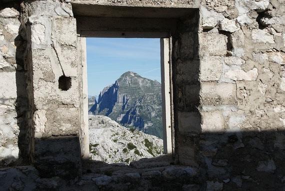 Der Monte Cimone vom Sella Bila Pec aus aufgenommen