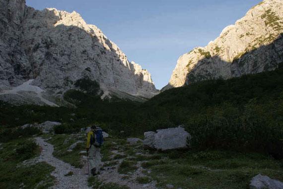 Aufstieg zum Luknjapass