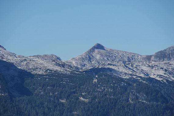 Im Südwesten ist der kleine aber feine Picco di Grubia zu erkennen