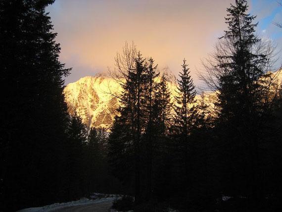 Abmarsch um 6:15, der Stenar im Morgenlicht
