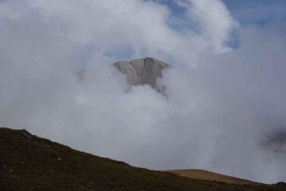 Am 26.9.2009 lässt sich das herrliche Panorama leider nur zwischendurch erahnen
