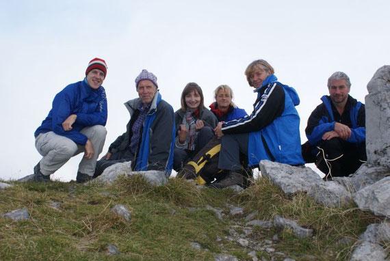 Ein Gipfelgruppenfoto