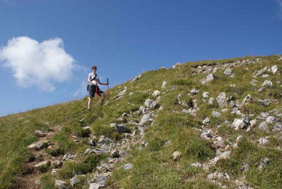 Am Ostrücken hinauf zum Gipfel
