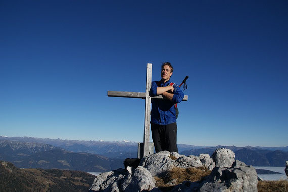 Am Gipfel des Torre Clampil