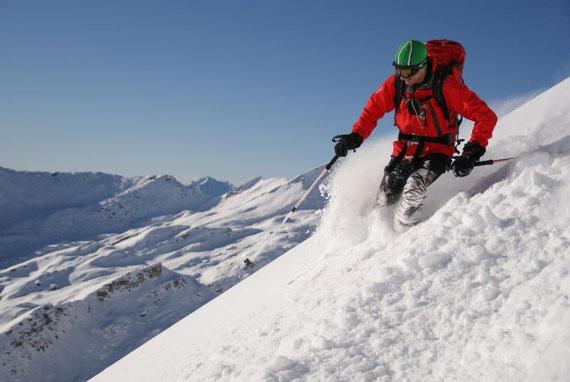 Diese Tour ist nur etwas für gute Schifahrer, da der gesamte Hang durchwegs steil ist!