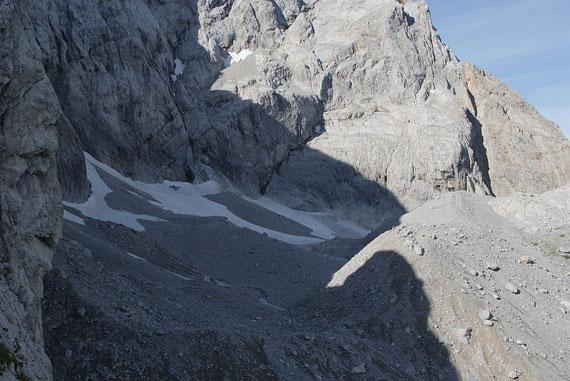 Blick von Osten über den östlichen Teil des Eiskargletschers
