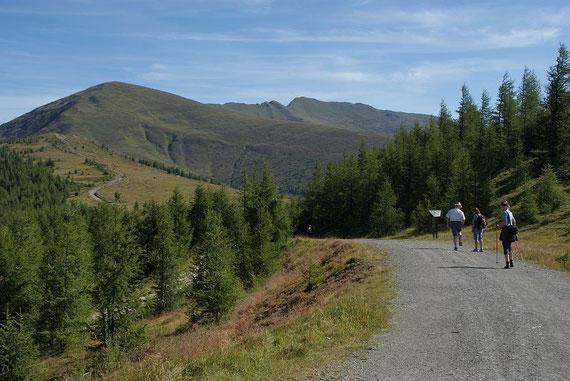 Am Weg von der Bergstation Richtung Mallnock