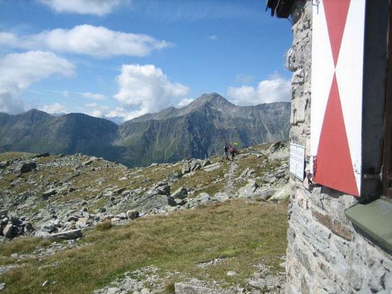 Bei der Mindener Hütte, im Hintergrund das Böseck