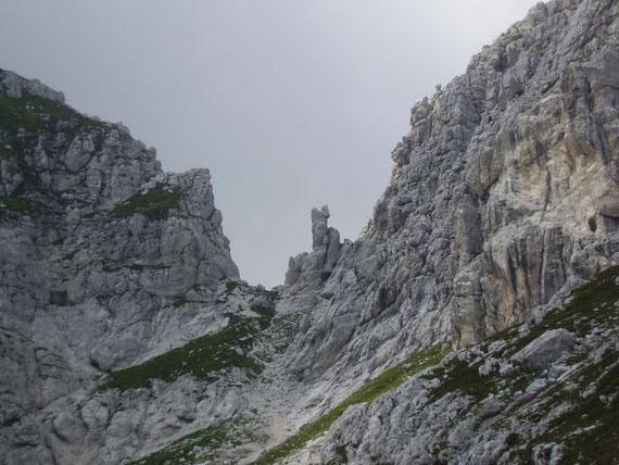 Blick nach Westen zur Mosesscharte (2271m)