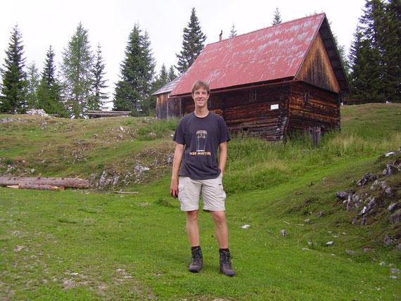 Während des Aufstiegs auf der Hadersdorfer Alm