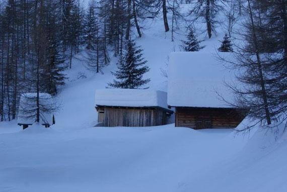 Bei der Dechantalm, im Dezember 2008 liegt wirklich viel Schnee