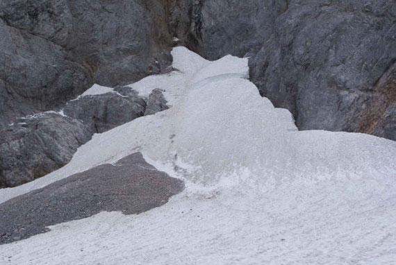 Der höchste Punkt, hier ist die Schneeauflage verhältnismäßig bescheiden (~4m)