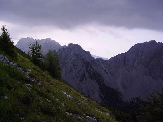 Blick nach Osten zur Bielschitza und der Vertatscha