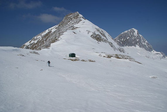 Am Sella di Grubia mit dem Biwak und dem Ostgrat hinauf zum Gipfel