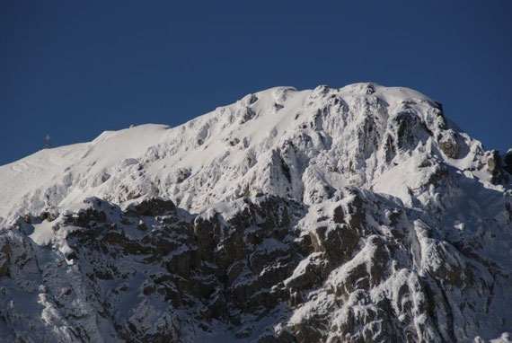 Der höchste Gipfel der Karnischen Alpen, die Hohe Warte