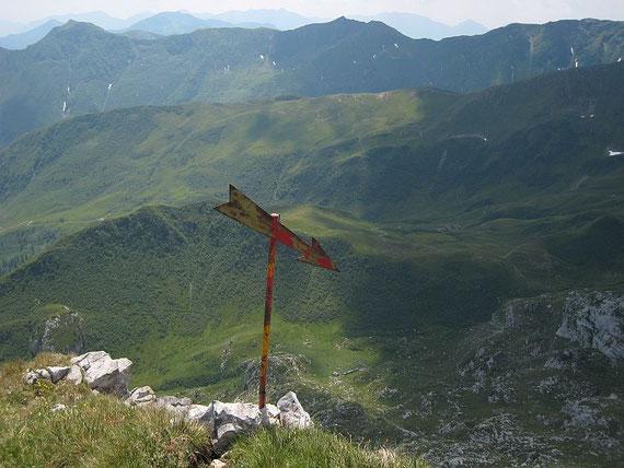 Abstieg nach Süden zur Cresta Collinetta