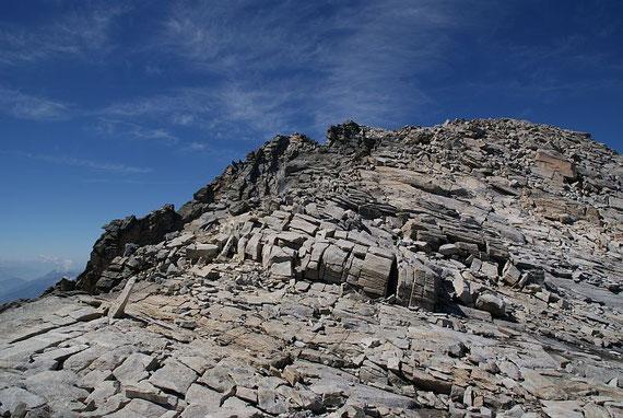Die letzten 100 Höhenmeter zum Gipfel