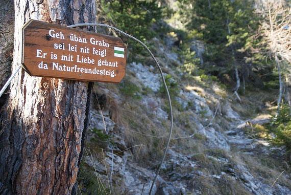 Beim Abstieg am Naturfreundesteig