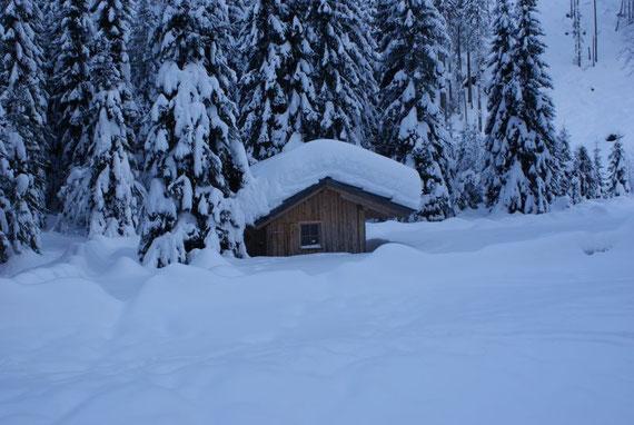 Die Johannsenruhe bei über 1m Schnee