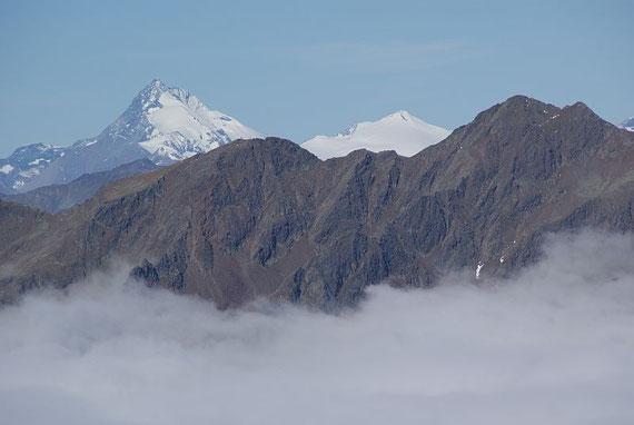Am Gipfel angekommen grüßt der Großglockner