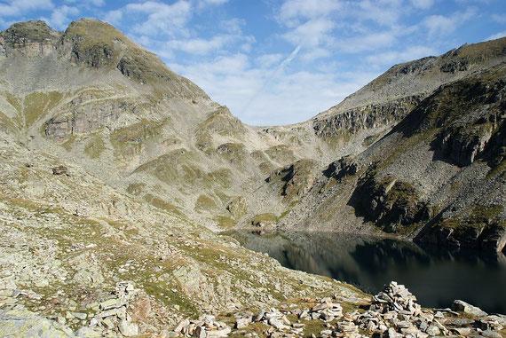 Blick über den Kleinen Mühldorfer See zum Riekentörl