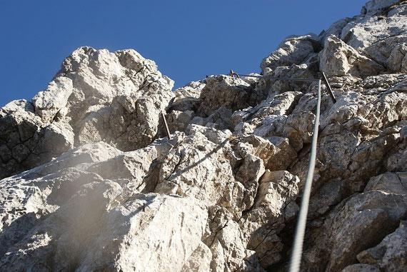 Versicherter Abschnitt auf den Torre Clampil