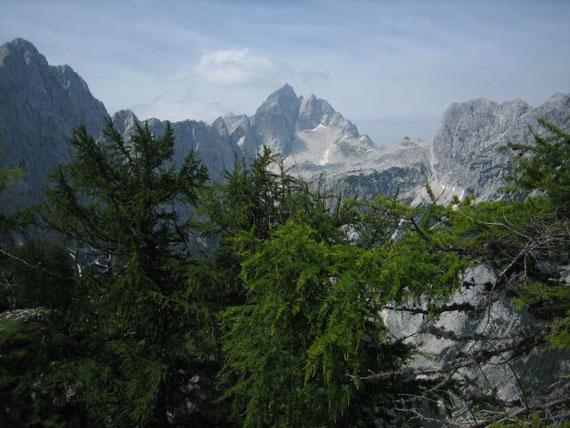Der Blick zum Jalovec (2645m) dem Matterhorn der Julier