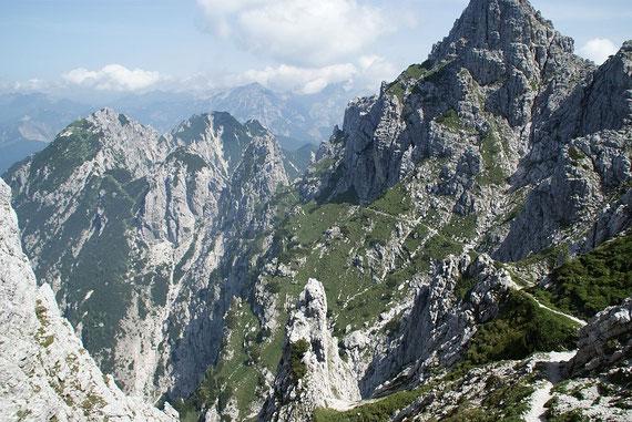 Rückweg Richtung Forcella della Peccora