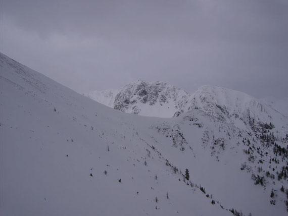 Blick nach Süden auf den Schwarzkogel (2026m)
