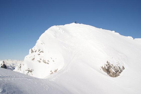 Die letzten Meter hinauf zum Gipfel