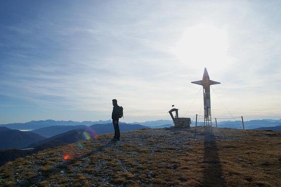 Der herrliche Blick nach Süden zu den Julischen Alpen