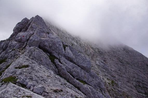 Nordwestgrat hinauf zum Gipfel