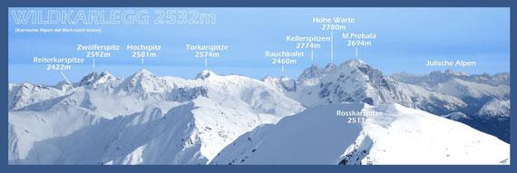 Die gesamten Karnischen Alpen